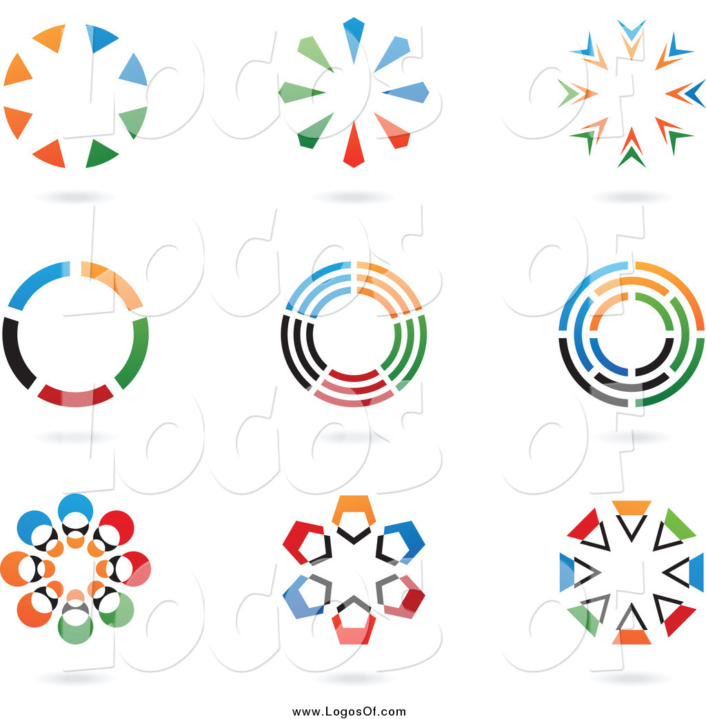 Vector Clipart Of Colorful Circular Logos By Cidepix 748