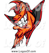 Clipart of a Grinning Evil Devil Logo by Chromaco