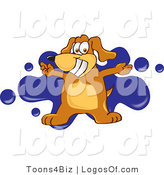 Logo of a Dog Blue Splatters by Toons4Biz