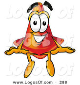 September 12nd, 2012: Logo of a Smiling Orange Traffic Cone Mascot Cartoon Character Sitting by Toons4Biz