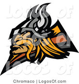 Logo of a Viking Man by Chromaco