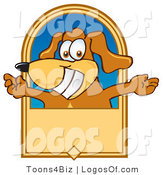 Logo of a Welcoming Dog and Tan Banner by Toons4Biz