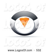 Logo Vector of a 3d Chrome and Orange Circular Knob by Beboy