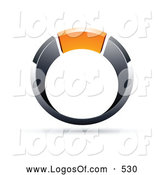 Logo Vector of a 3d Chrome and Orange Ring by Beboy
