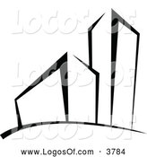 Logo Vector of a Black and White Building and Skyscraper Logo by Vector Tradition SM