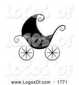 Logo Vector of a Black Baby Pram by BNP Design Studio