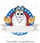 Logo Vector of a Blimp with Stars and a Blank Ribbon by Toons4Biz