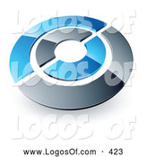 June 23rd, 2013: Logo Vector of a Blue and Silver Target or Couple of Circles Above Space for a Business Name and Company Slogan by Beboy