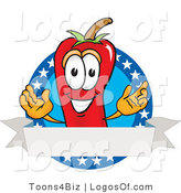 Logo Vector of a Chili Pepper and American Label by Toons4Biz