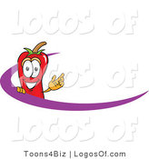 Logo Vector of a Chili Pepper and Purple Wave by Toons4Biz