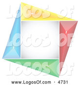 Logo Vector of a Colorful Square Abstract Logo by Andrei Marincas