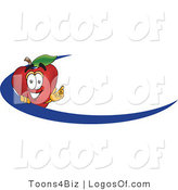 Logo Vector of a Dash and Red Apple Logo by Toons4Biz