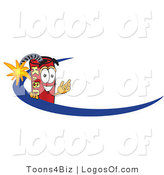 Logo Vector of a Dynamite Guy Logo with a Blue Dash by Toons4Biz