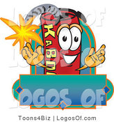 Logo Vector of a Dynamite Guy with a Blank Label by Toons4Biz