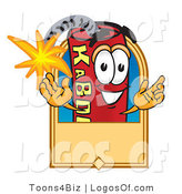 Logo Vector of a Dynamite Guy with a Tan Label by Toons4Biz