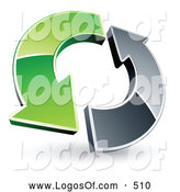 Logo Vector of a Green and Chrome Arrow CirclingGreen and Chrome Arrow Circling by Beboy