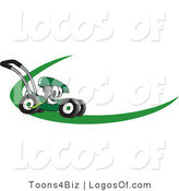 July 26th, 2012: Logo Vector of a Green Lawn Mower Dash by Toons4Biz