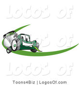 July 31st, 2012: Logo Vector of a Green Lawn Mower Swoosh by Toons4Biz