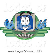 Logo Vector of a Happy and Smiling Desktop Computer Mascot Cartoon Character LogoHappy and Smiling Desktop Computer Mascot Cartoon Character Logo by Toons4Biz