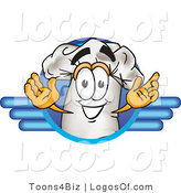 August 22nd, 2012: Logo Vector of a Happy Chefs Hat Mascot Cartoon Character on a Blue Logo by Toons4Biz