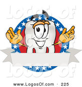 Logo Vector of a Happy Tooth Mascot Cartoon Character on an American Business Label by Toons4Biz