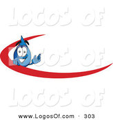 Logo Vector of a Happy Water Drop Mascot Cartoon Character with a Red Dash on an Employee Nametag or Business Logo by Toons4Biz