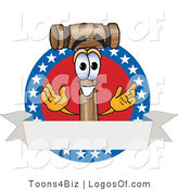 Logo Vector of a Logo Mallet Mascot and American Label by Toons4Biz