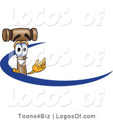 Logo Vector of a Logo Mallet Mascot and Blue Dash by Toons4Biz
