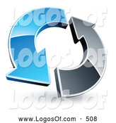 Logo Vector of a Pair of Blue and Chrome Arrows Circling by Beboy