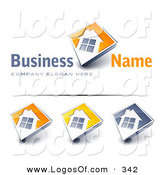 March 5th, 2013: Logo Vector of a Pre-Made Logo of a Large Window on a Home with a White Background and Space for a Business Name and Company Slogan by Beboy