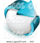 March 8th, 2013: Logo Vector of a Pre-Made Logo of a Long Blue Arrow Around a White Sphere, with Space for a Business Name and Company Slogan by Beboy