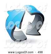 Logo Vector of a Pre-Made Logo of a Pair of Circling Blue Arrows by Beboy