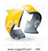 Logo Vector of a Pre-Made Logo of a Pair of Circling Yellow Arrows by Beboy