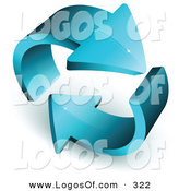 Logo Vector of a Pre-Made Logo of a Pair of Thick Blue Arrows Circling, with Space for a Business Name and Company Slogan by Beboy