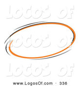 Logo Vector of a Pre-Made Logo of a Ring of Orange and Black Around a Space for a Business Name and Slogan on White by Beboy