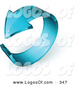 March 11th, 2013: Logo Vector of a Pre-Made Logo of a See Through Blue Glass Arrow Circling, with Space for a Business Name and Company Slogan by Beboy