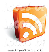 February 21st, 2013: Logo Vector of a Pre-Made Logo of a Shiny Orange Cube with a White RSS Symbol, with Space for a Business Name and Company Slogan by Beboy