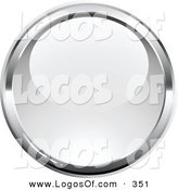 Logo Vector of a Pre-Made Logo of a Shiny Orb Bordered by Chrome, over a Space for a Business Name and Company Slogan on White by Beboy