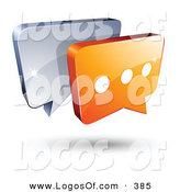 Logo Vector of a Pre-Made Logo of a Silver and Orange Chat Windows Above Space for a Business Name and Company Slogan by Beboy