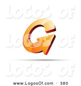 Logo Vector of a Pre-Made Logo of a Single Orange Circling Arrow, with Space for a Business Name and Company Slogan Below by Beboy
