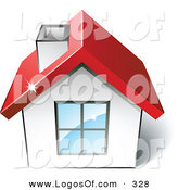 February 15th, 2013: Logo Vector of a Pre-Made Logo of a White Home with a Red Roof and Space for a Business Name and Company Slogan by Beboy