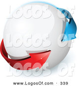March 1st, 2013: Logo Vector of a Pre-Made Logo of Blue and Red Arrows Around a White Orb, with Space for a Business Name and Company Slogan by Beboy