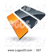 September 22nd, 2013: Logo Vector of a Pre-Made Logo of Orange and Gray Bars on White by Beboy