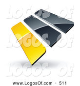 September 26th, 2013: Logo Vector of a Pre-Made Logo of Yellow and Gray Bars on White by Beboy