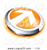 Logo Vector of a Pre-Made Stylized Logo of a White Arrow on an Orange and Chrome Button by Beboy