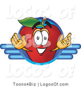 Logo Vector of a Red Apple by Toons4Biz