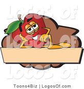 Logo Vector of a Red Apple Relaxing Logo by Toons4Biz