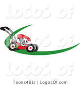 July 27th, 2012: Logo Vector of a Red Lawn Mower Dash by Toons4Biz