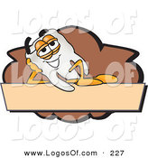 Logo Vector of a Relaxed Tooth Mascot Cartoon Character on a Blank Tan and Brown Label by Toons4Biz