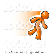Logo Vector of a Running Orange Man by Leo Blanchette